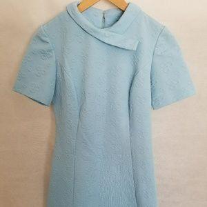 Women's 1960s Mod Light Blue Poly Dress